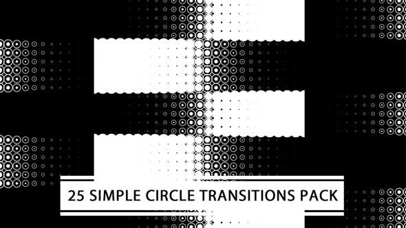 Thumbnail for 25 Simple Circle Transitions Pack