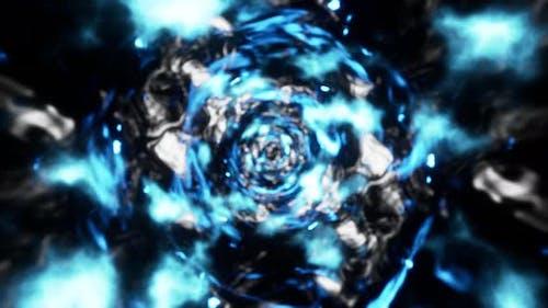 Blurred Blue Flame Tornado Slow motion 4K 01