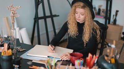 Artist at the Desk