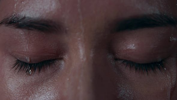 Thumbnail for Female Closed Eyes Under the Rain