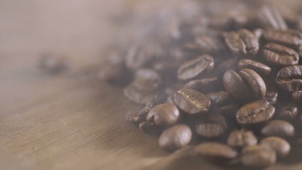 Thumbnail for Fried Coffee Beans, Delicious Aroma, Covered with Smoke, Roasted Grain Cafe Flavor Taste Hot Fresh