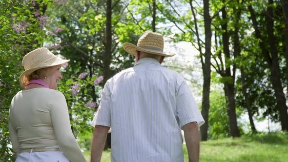 Thumbnail for Happy in Love Senior Couple Enjoy Each Other and Nature Around in Summer Park