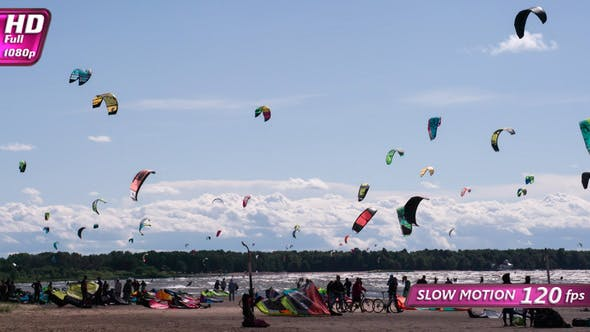 Fans Kite Surfing