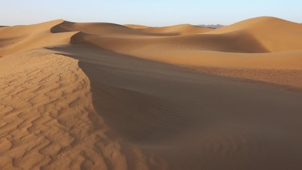 Thumbnail for Sand Blowing in Sand Dunes Wind, Sahara Desert