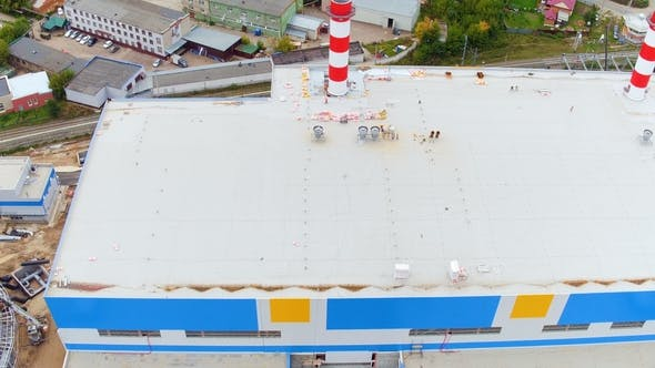 Thumbnail for Heizstation mit Gebäude Kühlturm By City