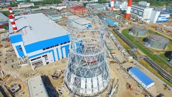 Thumbnail for Industriebauplatz mit Turmkarkasse