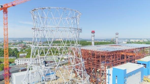 Thumbnail for Motion Past Cooling Tower Metallkarkasse vor Ort