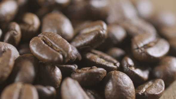 Thumbnail for Coffee Beans in Extreme  Background Stock Footage