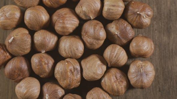 Hazelnut Rotating Nuts Background