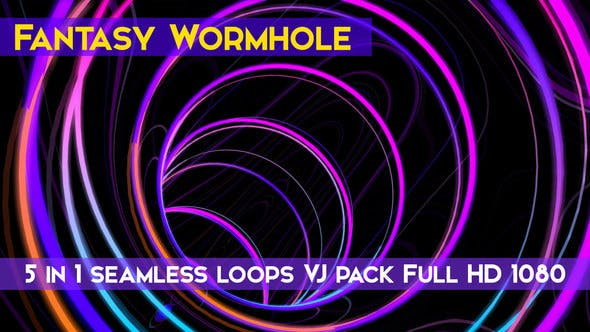 Thumbnail for Fantasy Wormhole VJ Loops