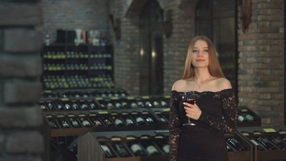 Thumbnail for Beautiful Girl is in Wine Cellar