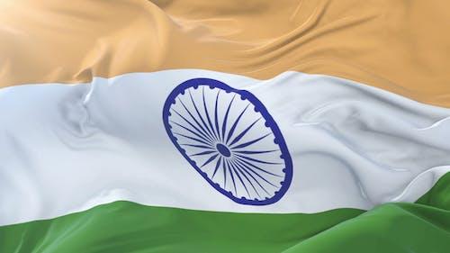 Indian Flag Waving