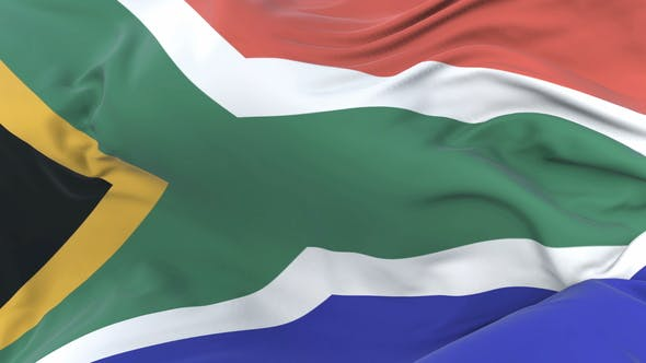 Flag of South Africa Waving