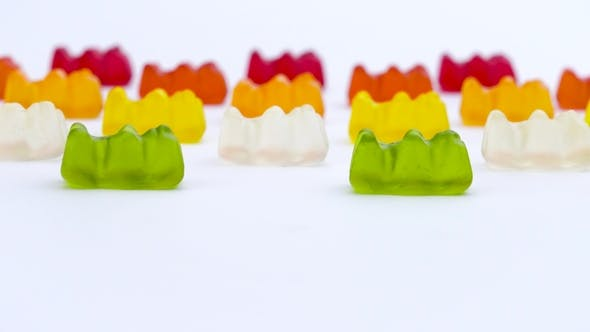 Thumbnail for Colorful Gummy Bears Sweet Fruit Jelly Candies