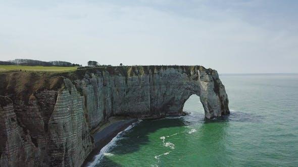 Amazing Drone Footage Cliffs Falaises d'Etretat Etretat By Drone