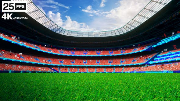 Thumbnail for Red Flying On Grass In Stadium 4K
