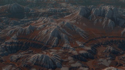 Shocking Overlooking Brown Mountain Hill Range Terrain Move
