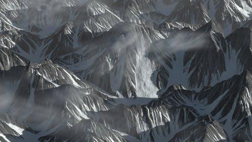 Shocking Overlooking Ice Cloud Mountain Hill Range Terrain Move