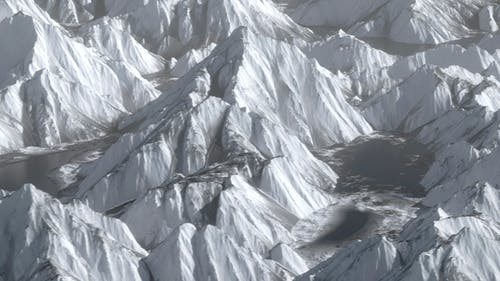 Shocking Overlooking Ice Mountain Hill Range Terrain Move