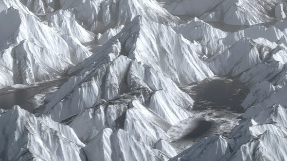 Shocking Overlooking Ice Mountain Hill Range Terrain Move
