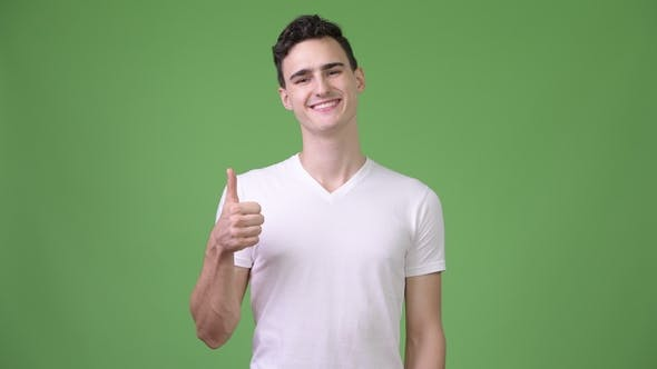 Thumbnail for Young Handsome Man Giving Thumbs Up