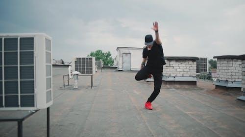 Tänzerin Kerl Tanzen Break Tanz auf dem Dach