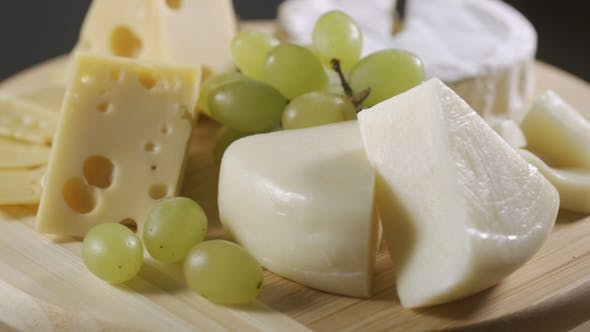 Thumbnail for Cheese Platter with Different Cheese and Grapes