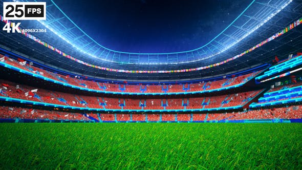 Thumbnail for Red Flying On Grass In Stadium Night