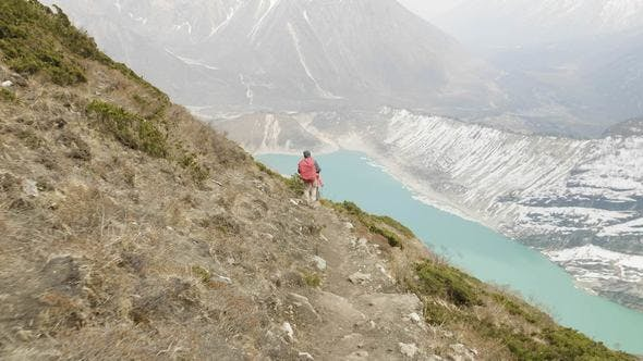 Thumbnail for Couple Backpackers Do Acclimatization Near Lake Birendra in Nepal