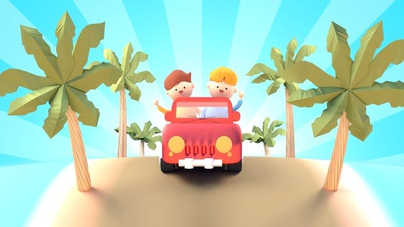 Thumbnail for Summer Road Trip (Cartoon Characters)