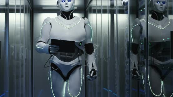 Thumbnail for Humanoid Robot Walking Through a Data Center