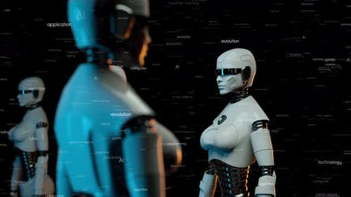 Футуристические роботы с искусственным интеллектом V2