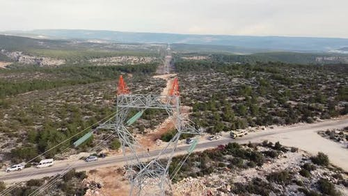 Installing of Highvoltage Power Line Cables