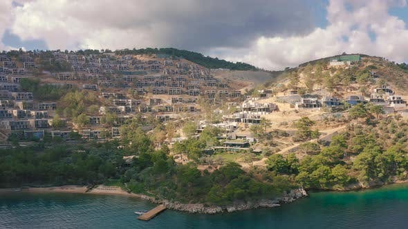 Hotel and Villas Under Construction in the Popular Turkish City of Bodrum