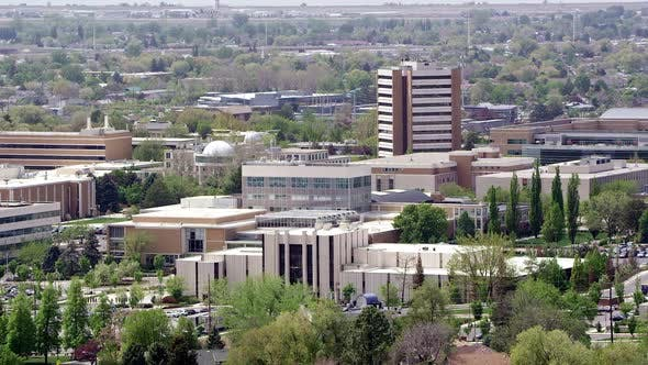 Thumbnail for Panning view of BYU campus in Provo Utah