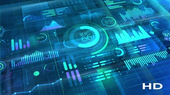 Thumbnail for Big Data 3D Infographic Background HD