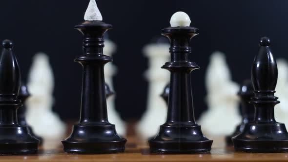 Thumbnail for Menacing Black Pieces On A Chessboard