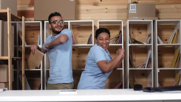 Thumbnail for Post Office Clerks Dancing Around while Sorting Mail
