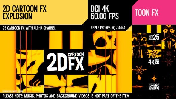 Thumbnail for 2D-Cartoon-FX (Explosionssatz 2)