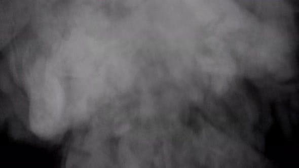 Smoke or Steam on Transparent Background with Alpha Channel.