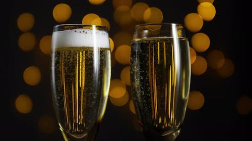 Champagne for New Year and Christmas