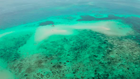 Thumbnail for Sandy Beach on a Coral Reef. Balabac, Palawan, Philippines
