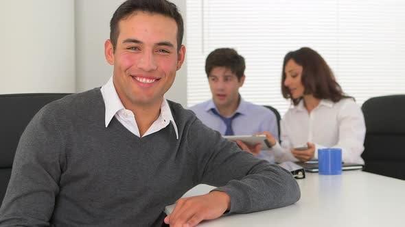 Thumbnail for happy hispanic businessman
