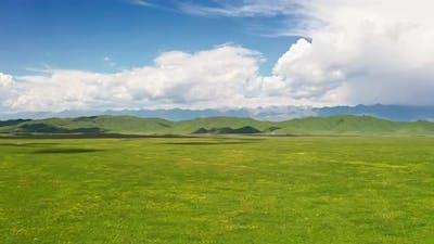 Nalati grassland with the blue sky