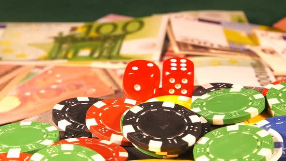 Thumbnail for Gambling Money Chips And Red Dices 5