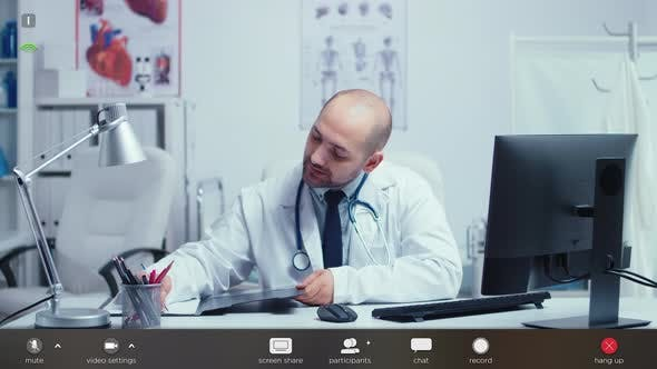 Thumbnail for Doctor on Video Online Call Offering Medical Support To Patients