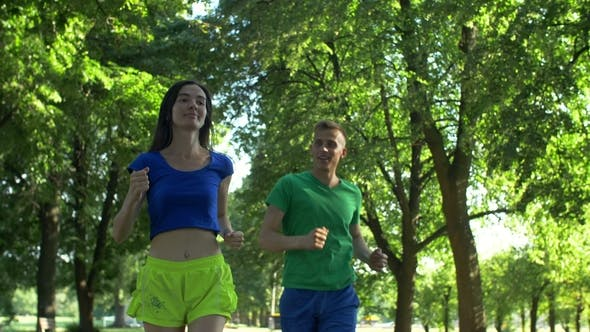 Thumbnail for Runner Man Flirting with Woman During Jogging