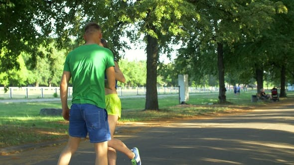 Thumbnail for Healthy Athletic Man Drinking Water After Running