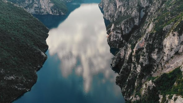 Thumbnail for Aerial View To Clear Blue Mountain Lake, Montenegro