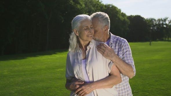 Thumbnail for Tender Romantic Moment of Retired Senior Couple